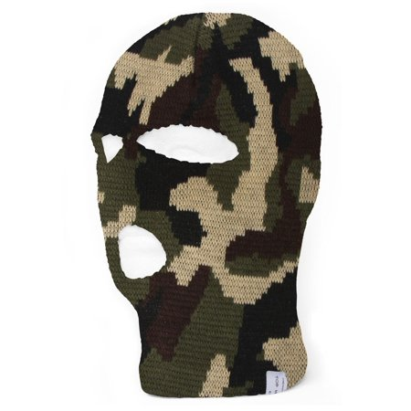 TopHeadwear 3-Hole Ski Face Mask Balaclava - Make Face White For Halloween