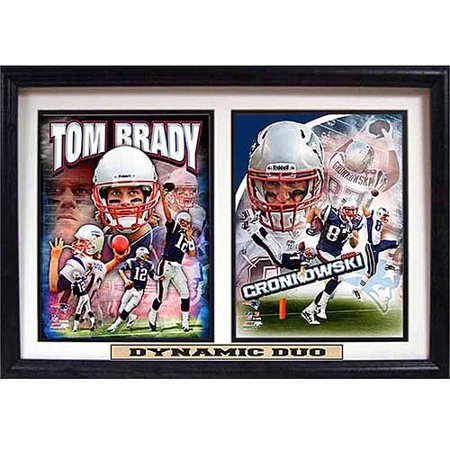 NFL New England Patriots Dynamic Duo 12x18 Double Frame