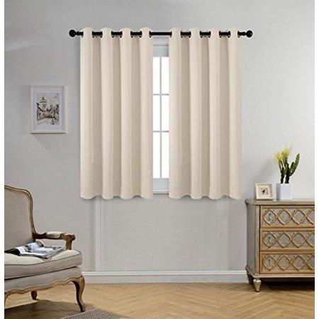 Miuco Room Darkening Grommet Window Blackout Curtains for Bedroom ...