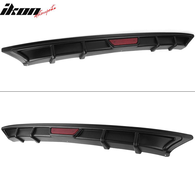 Fits 18 Honda Accord OE Factory Style Rear Diffuser W// 3rd Brake Light Black PP