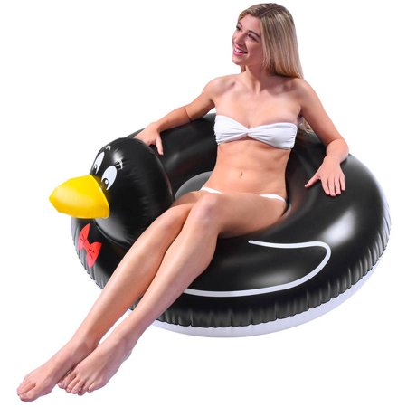 GoFloats Penguin Party Tube Inflatable Swimming Pool Raft, Float In Style, for...