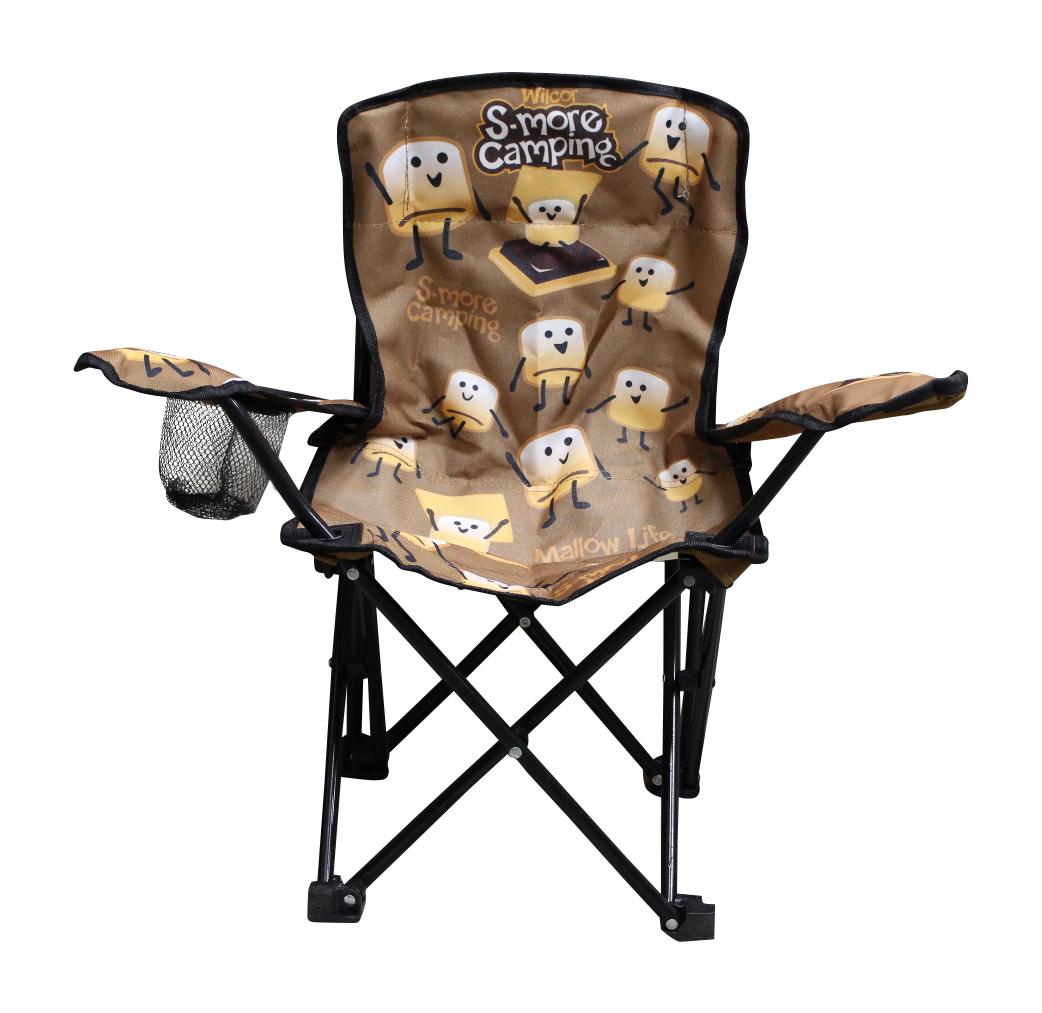 Wilcor Kids Folding Camp Chair With Cup Holder And Carry Bag   Smore