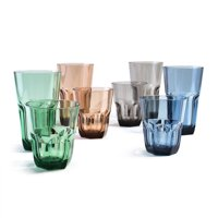 Cupture Everyday Cup Plastic Tumblers, 22 oz   14 oz, 8-Pack (Assorted Colors) by Cupture
