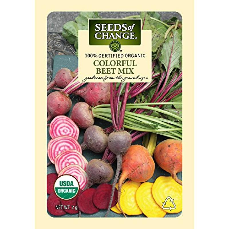 Seeds of Change Certified Organic Beet Mix, Colorful - 2 grams, 150 Seeds Pack