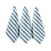 Ritz Basketweave Cotton Kitchen Towels Federal Blue 3-Pack