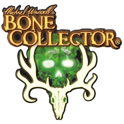 Bone Collector Corporate Logo Decal, White, 6""