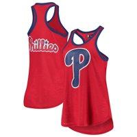 Philadelphia Phillies G-III 4Her by Carl Banks Women's Team Logo Tater Racerback Tank Top - Red