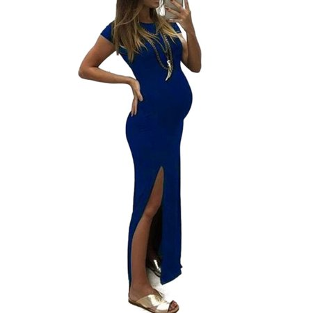Toddler Cap And Gown (Womens Pregnant Maternity Slit Party Maxi Dress Summer Photography Gown)