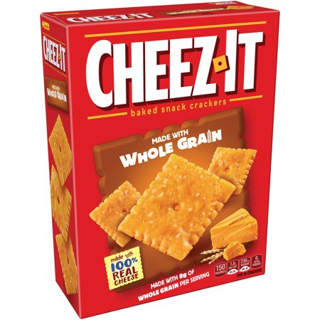 - (2 Pack) Cheez-it Baked Snack Cheese Crackers, Whole Grain, 12.4 oz