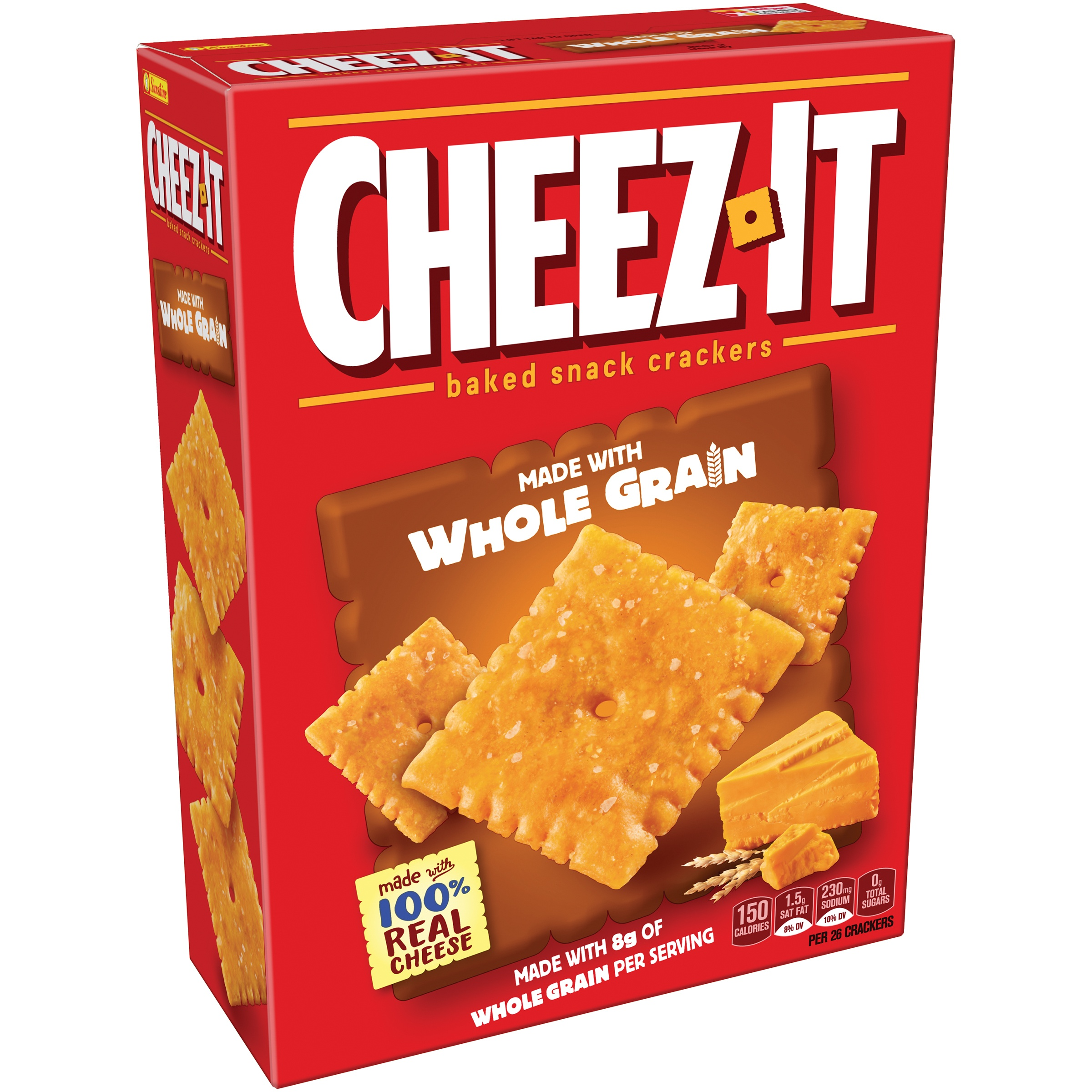 (2 Pack) Cheez-it Baked Snack Cheese Crackers, Whole Grain, 12.4 oz