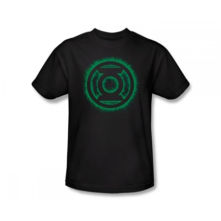9cb0c599 Green Lantern - Green Lantern - Green Flame Logo Slim Fit Adult T-Shirt In  Black - Walmart.com