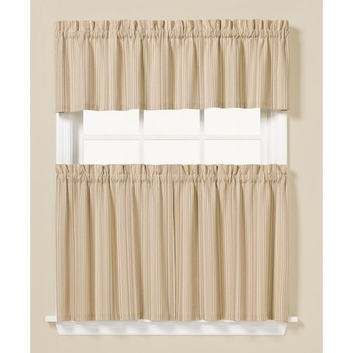 White And Coral Curtains Kitchen Curtains at Kmart