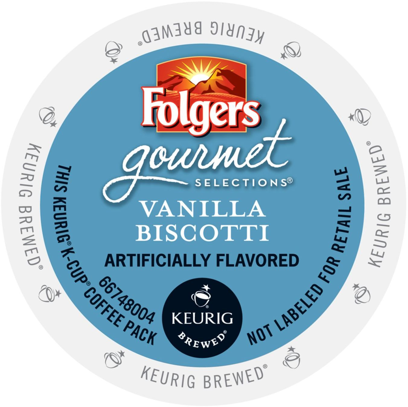 Folgers Gourmet Selections Vanilla Biscotti Coffee, K-Cup Portion Pack for Keurig Brewers... by Green Mountain