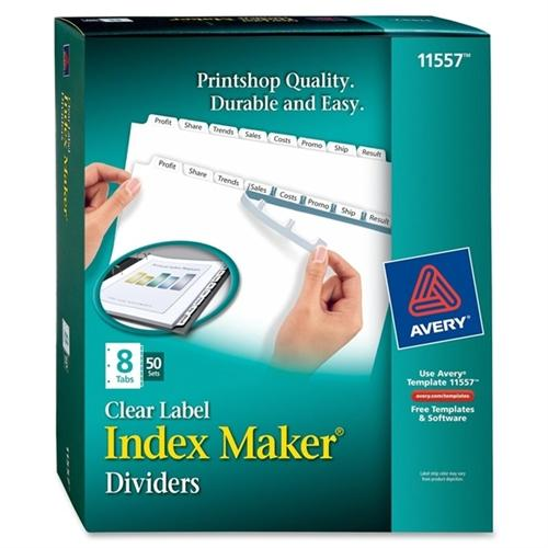 Avery Dennison Index Maker Tab Divider 11557