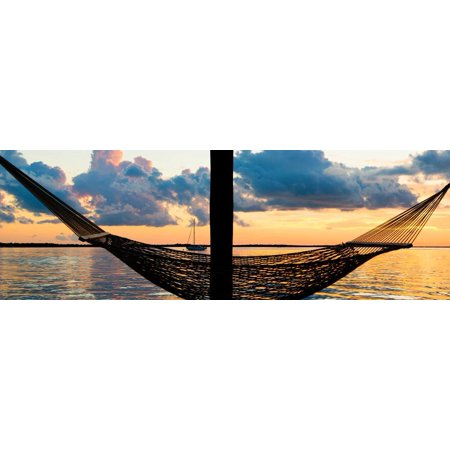 The Hammock at Sunset - Miami - Florida Print Wall Art By Philippe (Best Sunset In Miami)