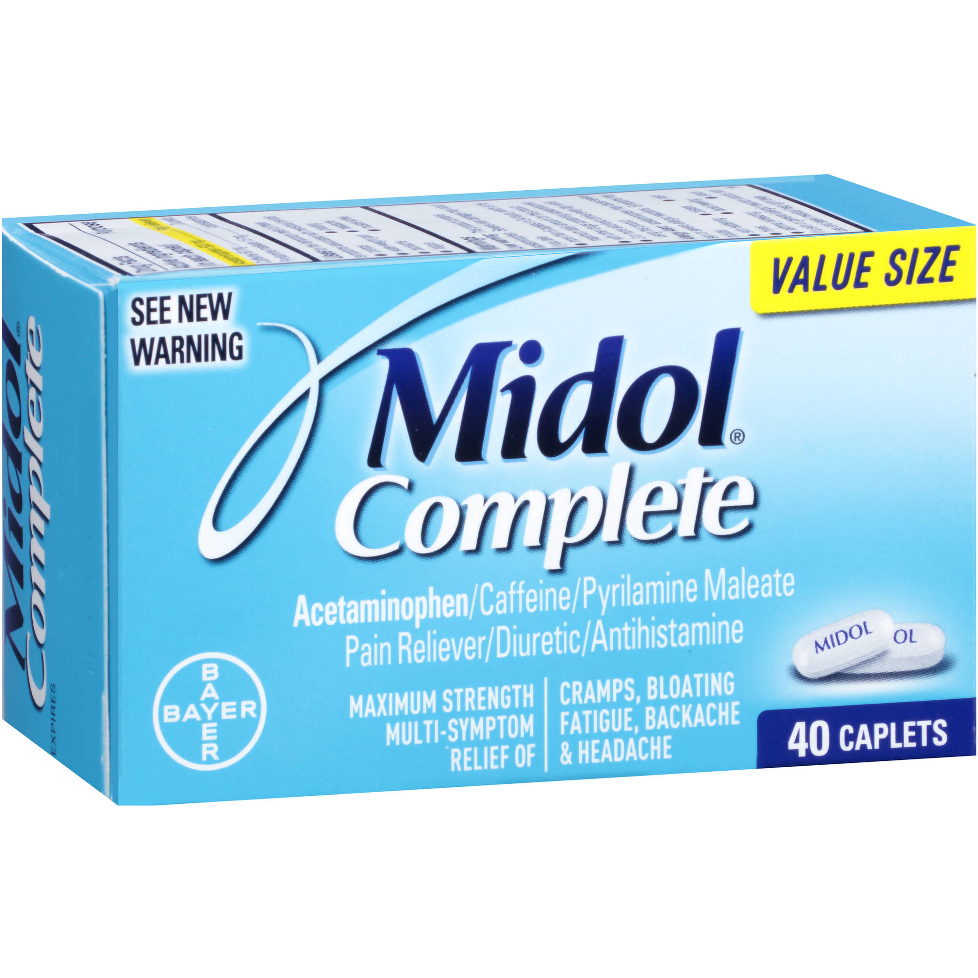 Midol Complete Maximum Strength Pain Reliever, 40 count
