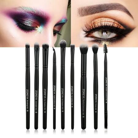 9Pcs Makeup Brush Set Powder Foundation Eyeshadow Blush Cosmetic Brushes Tool best
