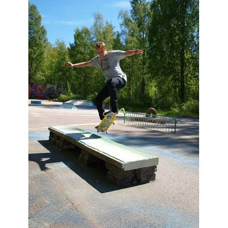 LAMINATED POSTER Skate Jump Skateboard Board Sports Poster Print 24 x