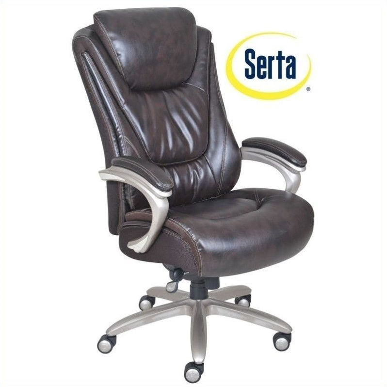 Attirant Serta By True Innovations Big And Tall Smart Layers Executive Office Chair  In Harmony Coffee