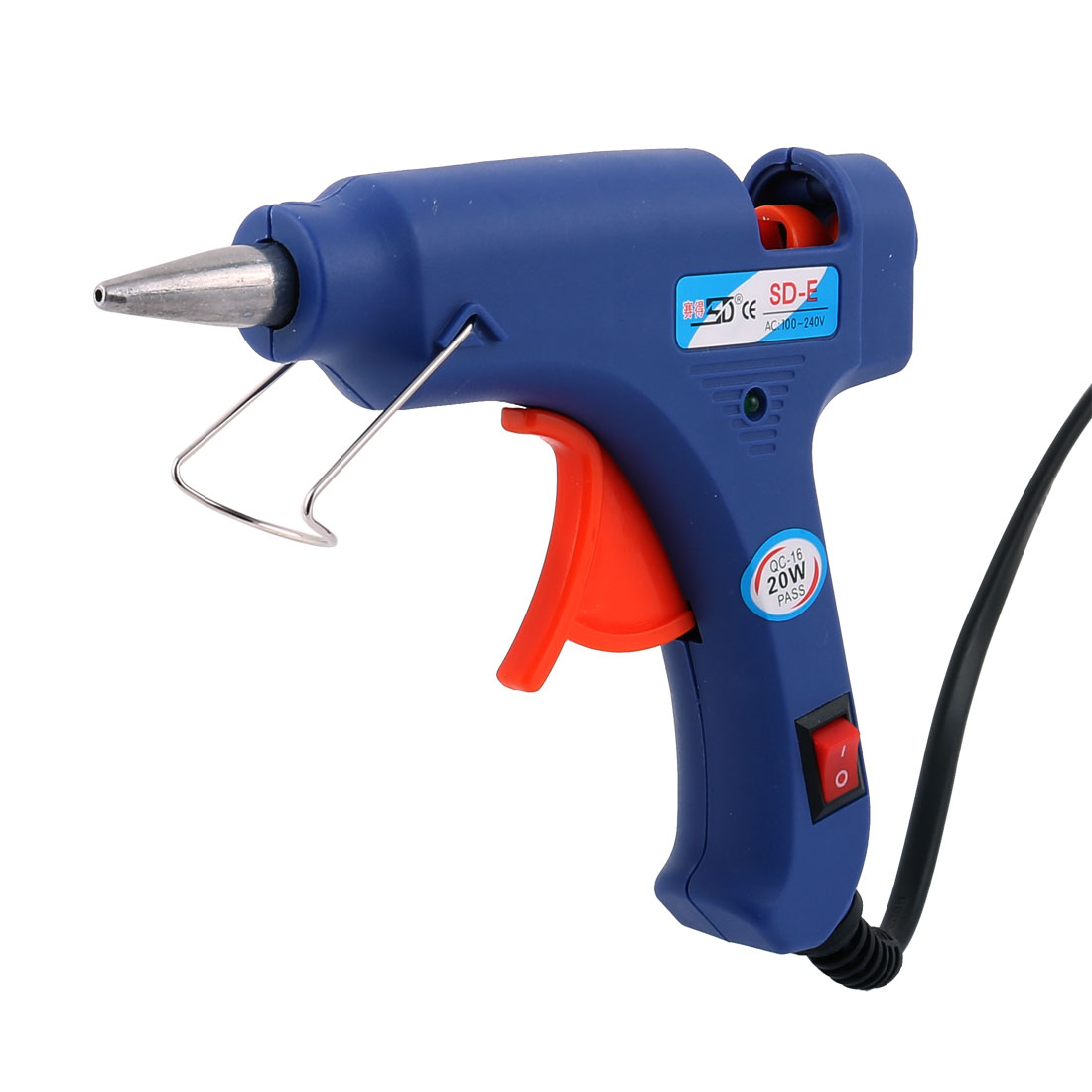 Unique Bargains Electric Heating Hot Melt Sticks Trigger Glue Gun AC 100-240V 20W w Glue Sticks by Unique-Bargains