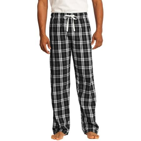 Mafoose Young Men's Flannel Plaid Sleepwear Pajamas Black S