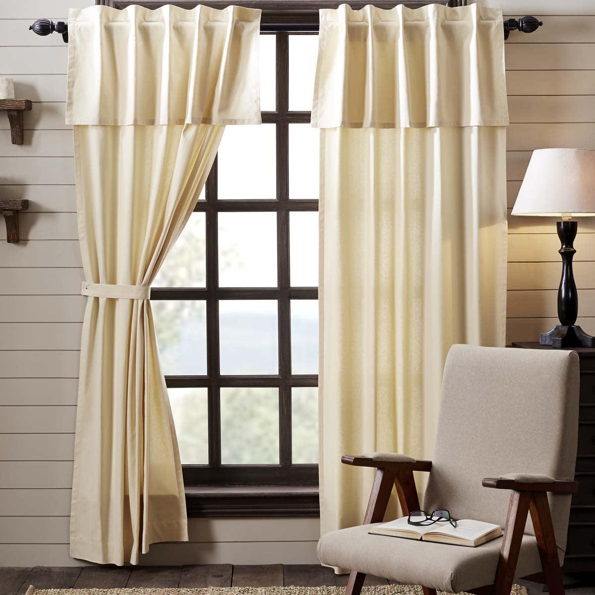 Dark Creme Tan Farmhouse Curtains Sonnet Rod Pocket Cotton