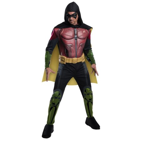 Halloween Men's Arkham Robin Muscle Chest Costume Adult Costume](Harley Quinn Arkham City Halloween Costume)