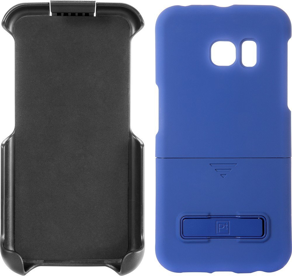 Platinum - Holster Case with Kickstand for Samsung Galaxy S6 edge Cell Phones - Blue
