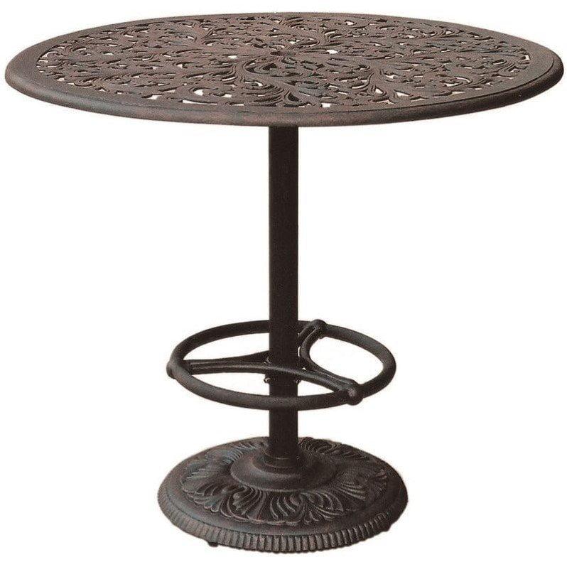 "Darlee Series 80 42"" Round Patio Pub Table in Antique Bronze by Darlee"