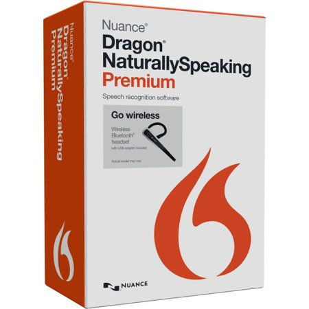 Nuance Eng Dragon NaturallySpeaking Premium 13 with Bluetooth Headset, U.S. Retail Wireless