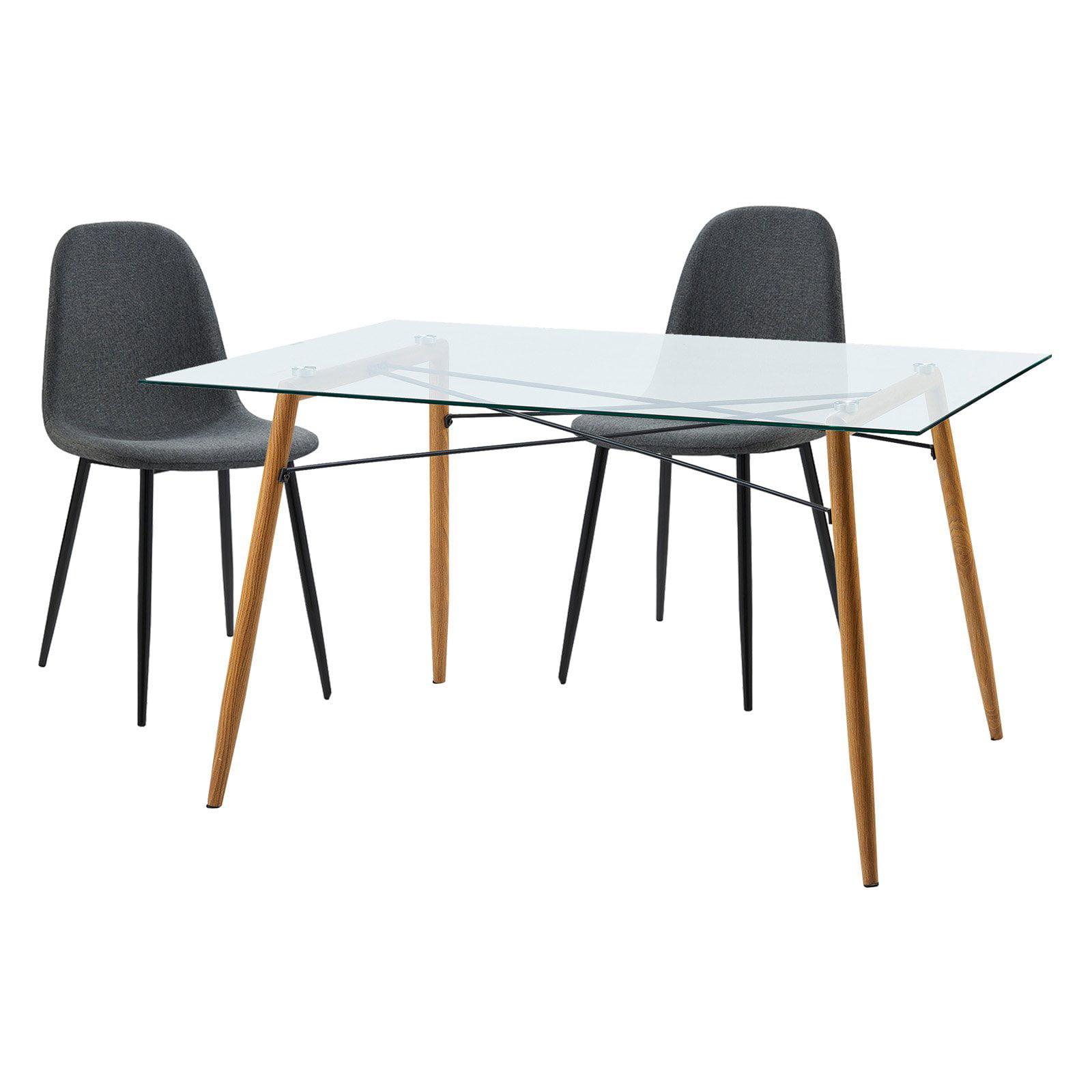 Versanora Minimalista Table with Set of 2 Chairs