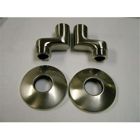 California Faucets Elbow (Kingston Brass KSEL213SN Swivel Elbow for Wall Mount Kitchen Faucet KS213SN, KS214SN & KS265SN, Satin Nickel )