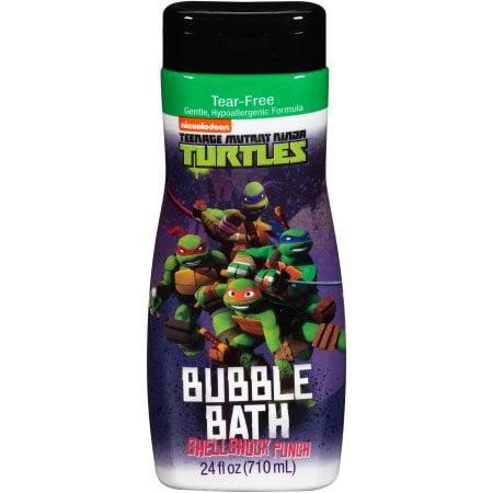 Nickelodeon Teenage Mutant Ninja Turtles Tear-Free Bubble Bath, Shellshock Punch, 24 Fl Oz