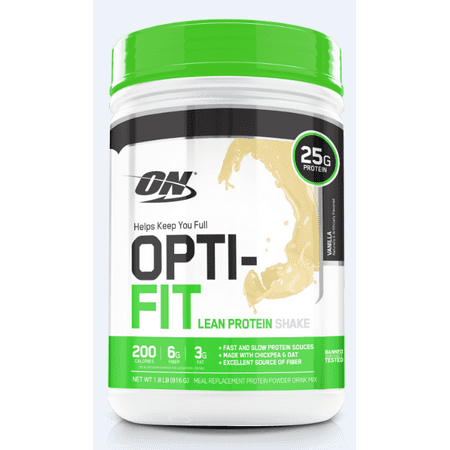 Optimum Nutrition Opti-Fit Lean Protein Powder, Vanilla, 25g Protein, 1.8