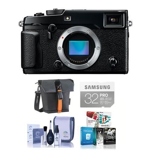 Fuji X-Pro2 Mirrorless Digital Camera Body - Black - Bund...