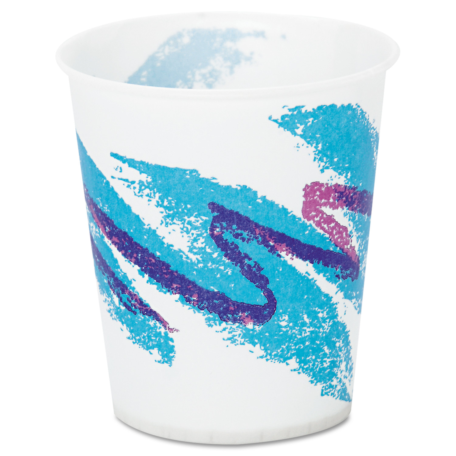 SOLO Cup Company Jazz Tide Design 5 Oz Waxed Paper Cold Cups, 3000 count