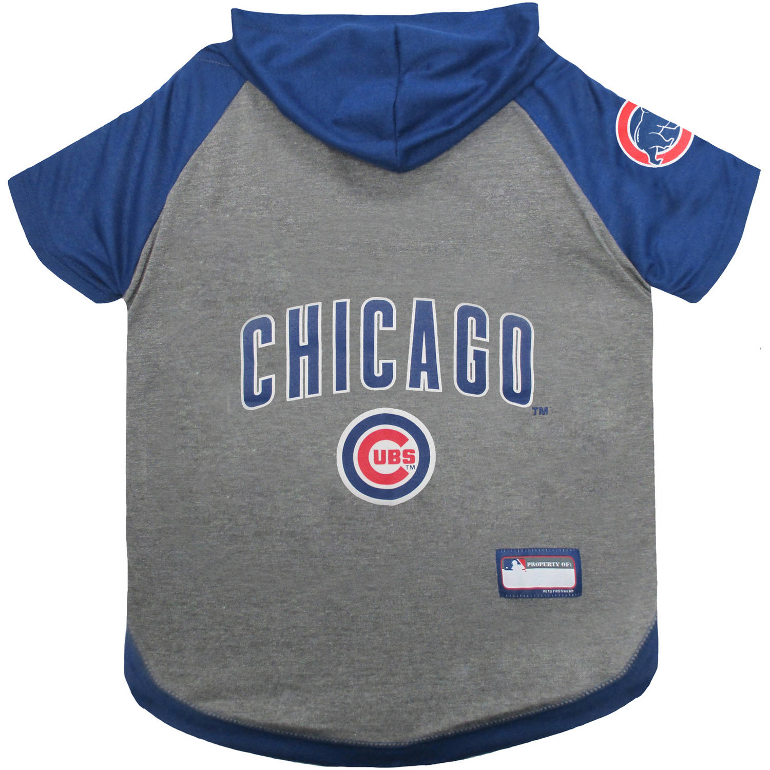Pets First MLB Chicago Cubs Hoodie Tee Shirt by Pets First