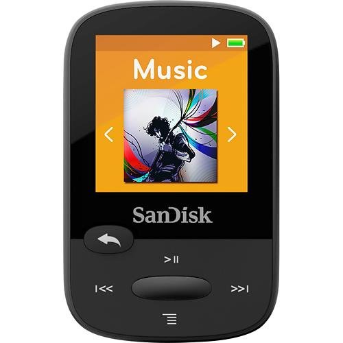 "Sandisk Clip Sport Sdmx24-008g 8 Gb Flash Mp3 Player - Black - Fm Tuner - 1.4"" - Microsdhc - Mp3, Aac, Audible, Flac, Ogg Vorbis, Wav, Wma - 25 Hour (sdmx24-008g-a46k)"