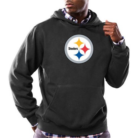 NFL Big Mens Pittsburgh Steelers Tek Patch Fleece Hoodie by