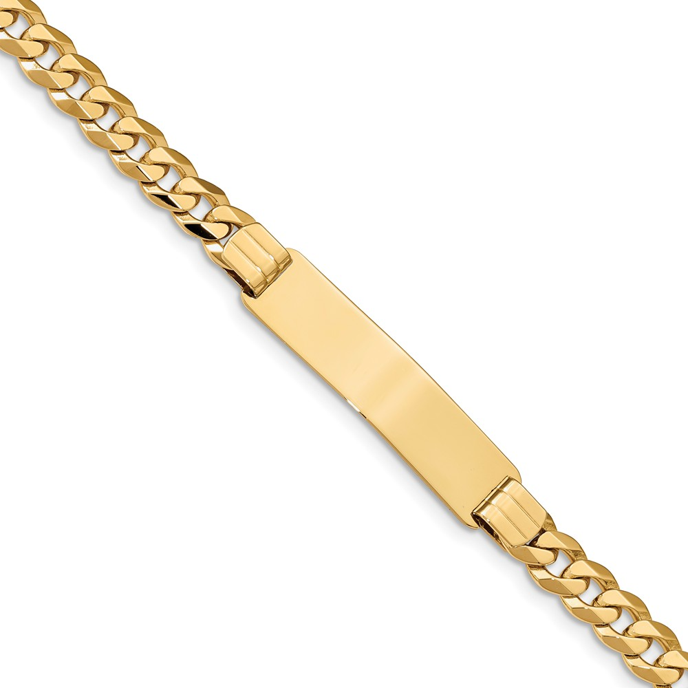 ICE CARATS 14kt Yellow Gold Link Curb Id Bracelet 8 Inch Fine Jewelry Ideal Gifts For Women Gift Set From Heart by IceCarats Designer Jewelry Gift USA
