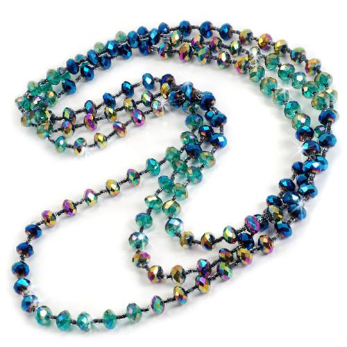 Sweet Romance  Long Crystal Bead Layering Necklace