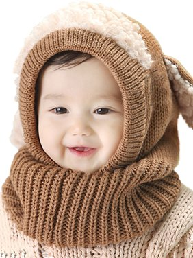 9e11174b86b Product Image Sweetsmile Dog Style Comfortable Winter Baby Hat and Scarf  Joint Knitted Caps for Infant Boys Girls