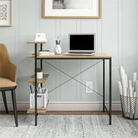 Mainstays Side Storage Desk (Natural)
