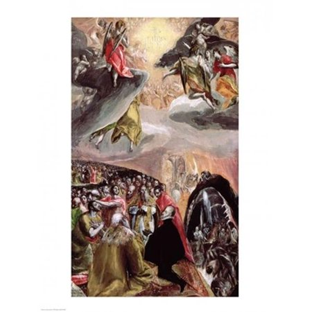 The Adoration of The Name of Jesus Poster Print by El Greco - 24 x 36 in. - Large - image 1 de 1