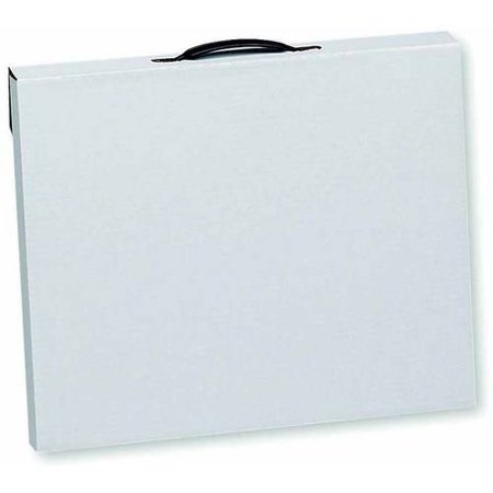Flipside Velcro Light-Weight Water Retardant Art Portfolio Case, White, Multiple - Art Profolio Presentation Book