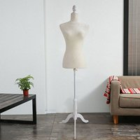 Ktaxon Foam Female Mannequin Display Lady Model with Adjustable Tripod Stand White