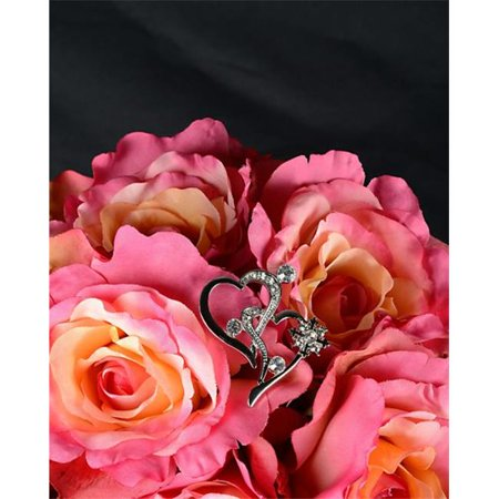 Angled Double Hearts Bouquet Jewelry - image 1 of 1