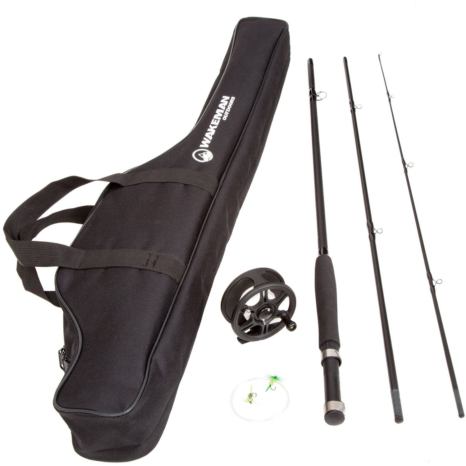 Wakeman Charter Series Fly Fishing Combo With Carry Bag Black  # Fly Meubles Audio Bois