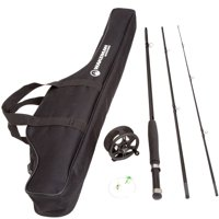 Wakeman Charter Series Fly Fishing Combo with Carry Bag, Black