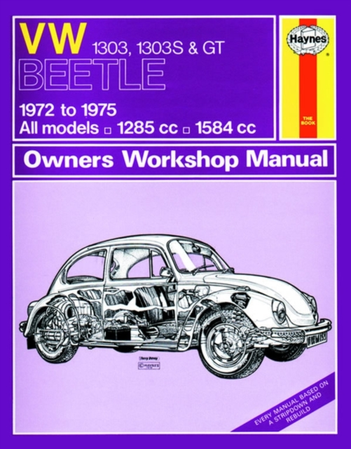 vw beetle 1303 1303s gt 72 75 haynes repair manual haynes rh walmart com Classic VW Beetle VW Beetle R